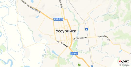 Карта Уссурийска с улицами и домами подробная. Показать со спутника номера домов онлайн