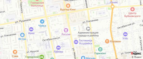 Средняя улица на карте Уссурийска с номерами домов