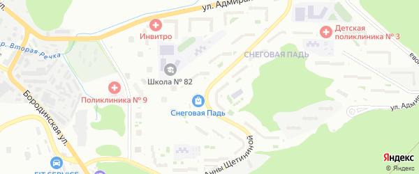 Улица Анны Щетининой на карте Владивостока с номерами домов