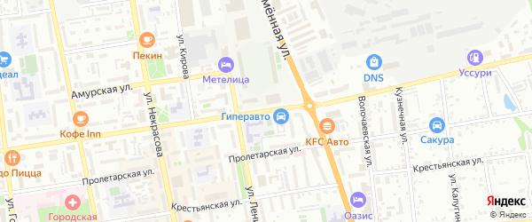 Комсомольская улица на карте территории Автолюбитель-2 с номерами домов