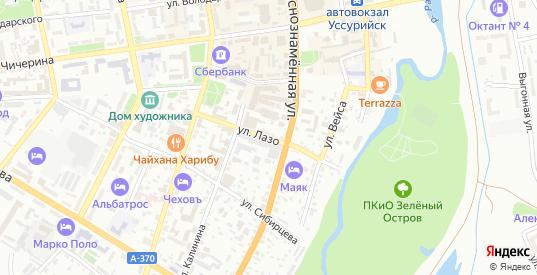 Улица Лазо в селе Борисовка в Уссурийске с номерами домов на карте. Спутник и схема онлайн