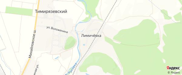 Карта железнодорожной станции Лимичевки города Уссурийска в Приморском крае с улицами и номерами домов