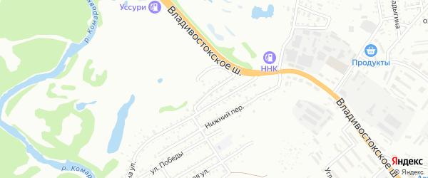 Партизанский переулок на карте Уссурийска с номерами домов