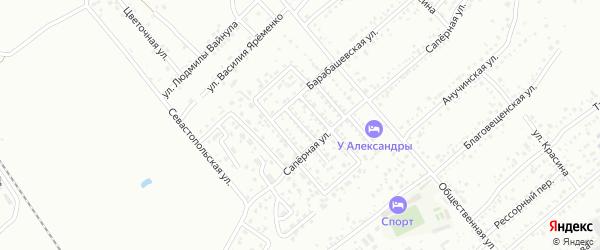 1-й Саперный проезд на карте Уссурийска с номерами домов