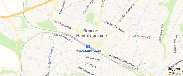 Карта Вольно-Надеждинского села в Приморском крае с улицами и номерами домов
