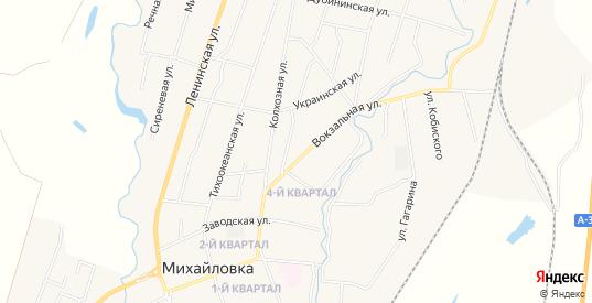 Территория ТОР Михайловский на карте села Михайловки с номерами домов