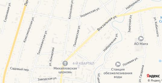 Строительная улица в селе Михайловка в Приморском крае с номерами домов на карте. Спутник и схема онлайн