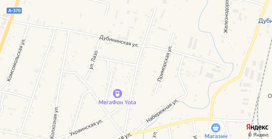 Некрасовская улица в селе Михайловка в Приморском крае с номерами домов на карте. Спутник и схема онлайн