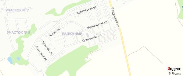 Солнечная улица на карте Уссурийска с номерами домов