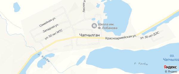 Карта села Чапчылгана в Якутии с улицами и номерами домов