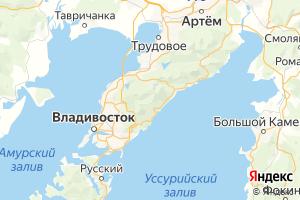 Карта г. Владивосток Приморский край