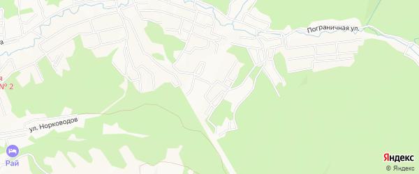 Юбилейное СТ на карте Уссурийска с номерами домов