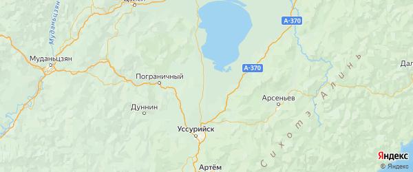 Карта Хорольского района Приморского края с городами и населенными пунктами