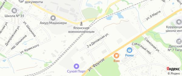 Кронштадтская улица на карте Артема с номерами домов
