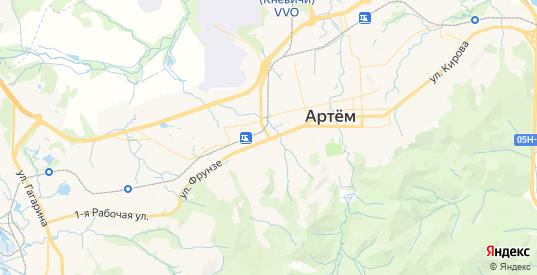 Карта Артема с улицами и домами подробная. Показать со спутника номера домов онлайн
