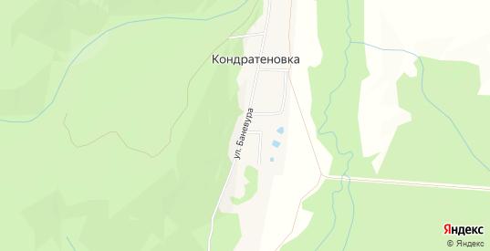 Карта села Кондратеновка в Уссурийске с улицами, домами и почтовыми отделениями со спутника онлайн