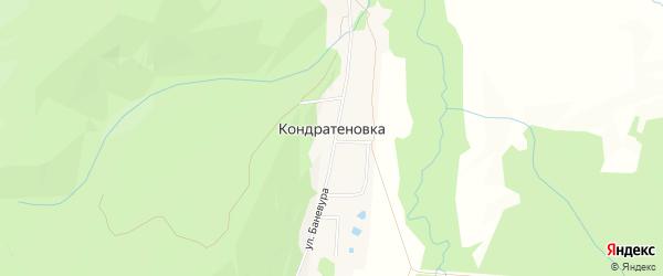 Карта села Кондратеновки города Уссурийска в Приморском крае с улицами и номерами домов