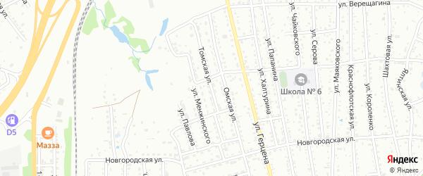 Томская улица на карте Артема с номерами домов