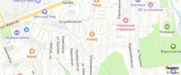 Ульяновская улица на карте Артема с номерами домов