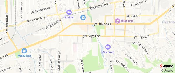 Территория ГСК Автомобилист на карте Артема с номерами домов