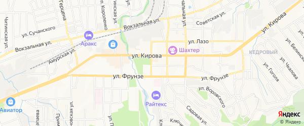 ГСК Фабричный-2 на карте Артема с номерами домов