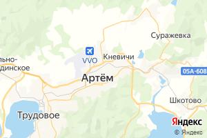 Карта г. Артём Приморский край