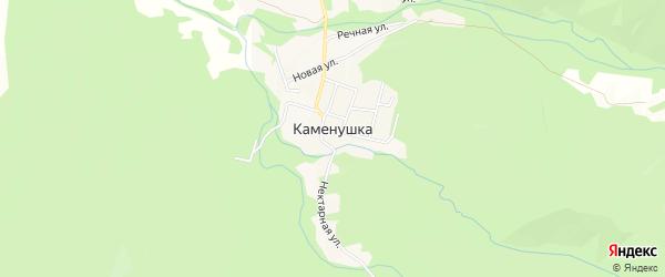 Карта села Каменушки города Уссурийска в Приморском крае с улицами и номерами домов