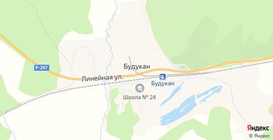 Карта села Будукан в Еврейской автономной области с улицами, домами и почтовыми отделениями со спутника онлайн