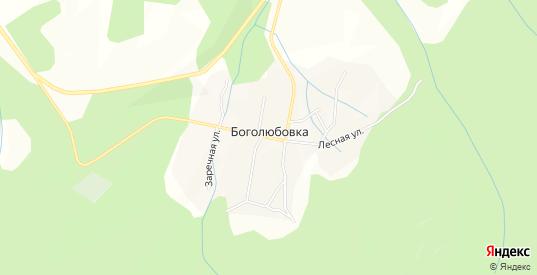 Карта села Боголюбовка в Уссурийске с улицами, домами и почтовыми отделениями со спутника онлайн