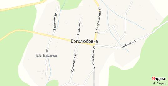 Кубанская улица в селе Боголюбовка в Уссурийске с номерами домов на карте. Спутник и схема онлайн