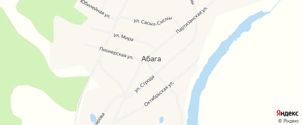 Карта села Абага в Якутии с улицами и номерами домов