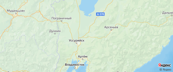 Карта Михайловского района Приморского края с городами и населенными пунктами