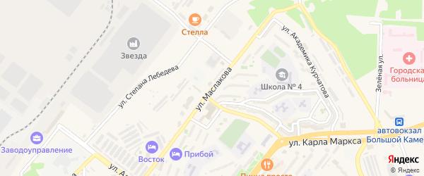 Улица Имени В.А.Маслакова на карте Большого Камня с номерами домов