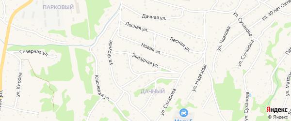 Звездная улица на карте Большого Камня с номерами домов