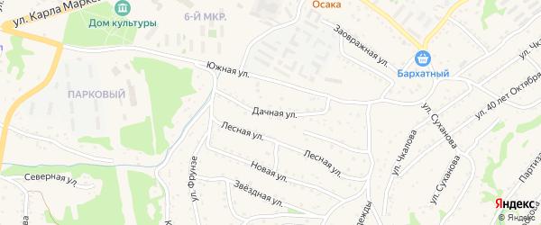 Дачная Нижняя улица на карте Большого Камня с номерами домов