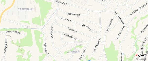 Новая улица на карте Большого Камня с номерами домов