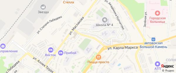 Улица Академика Крылова на карте Большого Камня с номерами домов