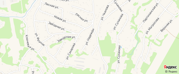 Русский переулок на карте Большого Камня с номерами домов
