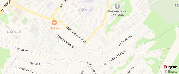 Пушкинский переулок на карте Большого Камня с номерами домов
