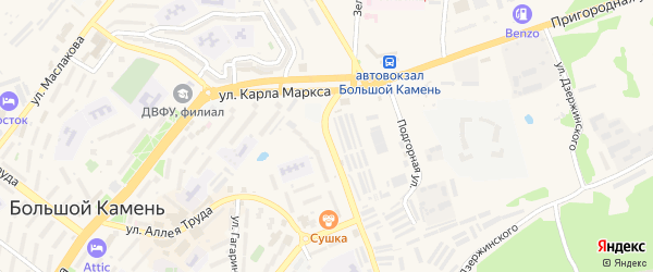 Улица Академика Курчатова на карте Большого Камня с номерами домов