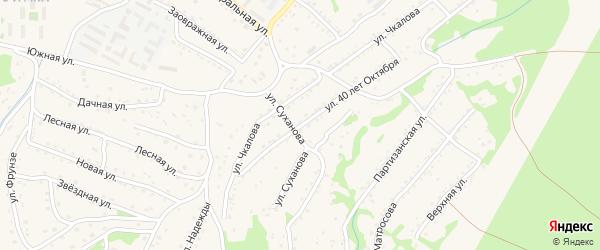 Улица 40 лет Октября на карте Большого Камня с номерами домов