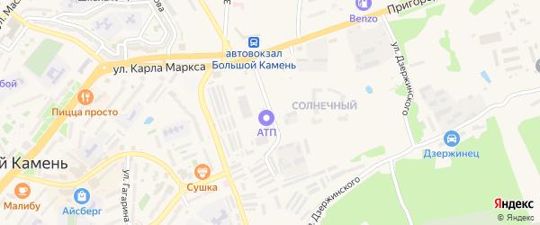 Подгорная улица на карте Большого Камня с номерами домов