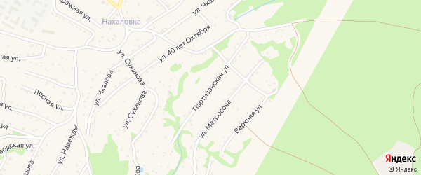 Партизанская улица на карте Большого Камня с номерами домов