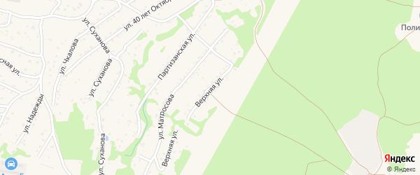 Верхняя улица на карте Большого Камня с номерами домов