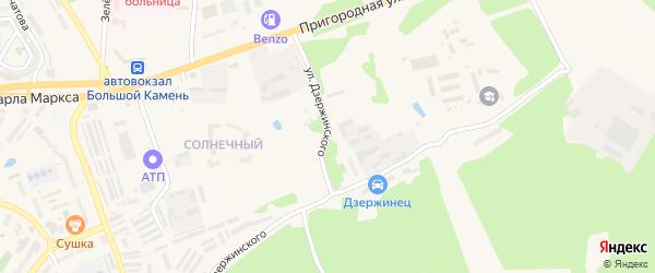 Улица Дзержинского на карте Большого Камня с номерами домов
