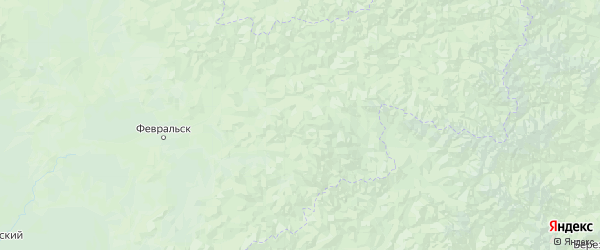 Карта Селемджинского района Амурской области с городами и населенными пунктами