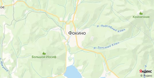 Карта Фокино с улицами и домами подробная. Показать со спутника номера домов онлайн