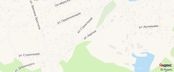 Улица Аартык на карте села Чурапча Якутии с номерами домов