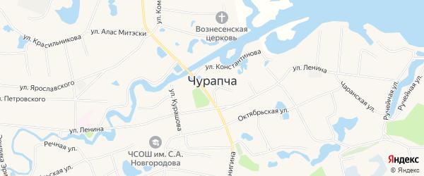 Карта села Чурапча в Якутии с улицами и номерами домов