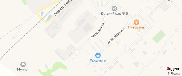 Заводская улица на карте села Черниговки Приморского края с номерами домов